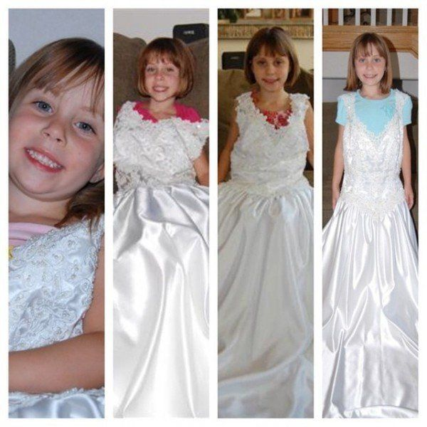 Mum Photographs Daughter In Wedding Dress Once A Year To Show How Much She's
