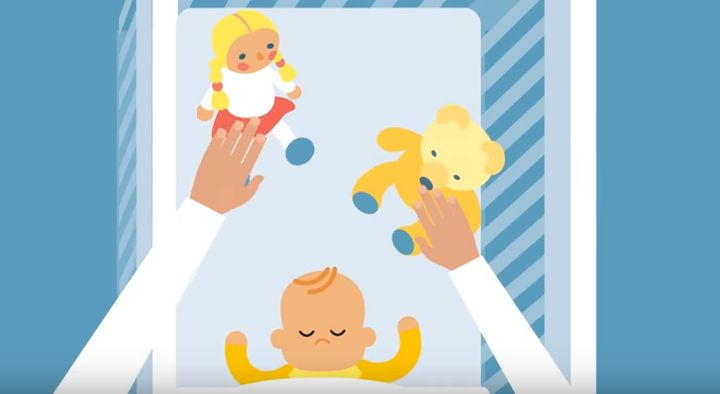 The video lists dos and don'ts for parents in an animated form
