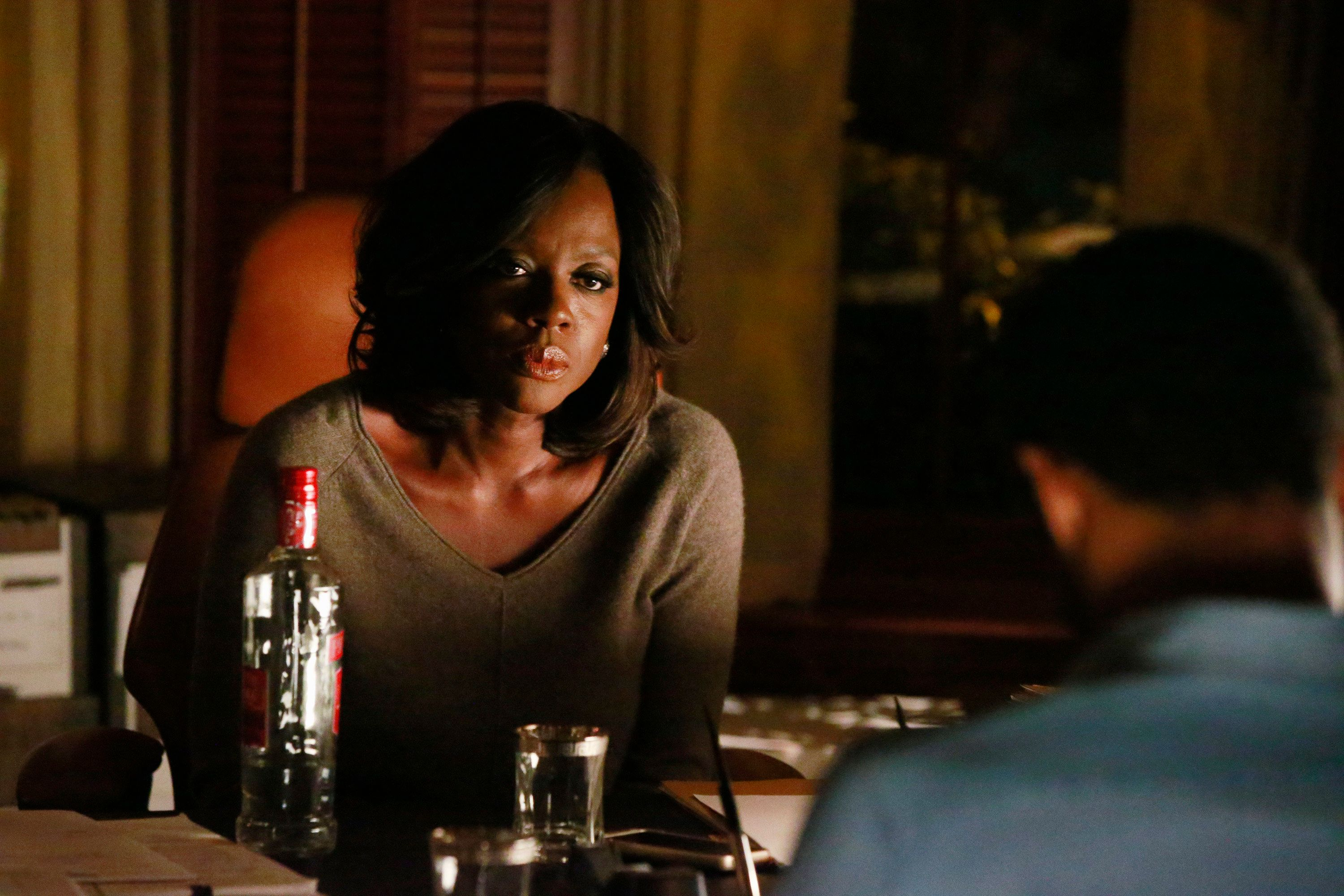 HOW TO GET AWAY WITH MURDER - 'There's My Baby' - The Keating 5 are called into questioning by A.D.A Denver about the night Emily Sinclair was murdered. Meanwhile, Caleb goes missing as the manhunt for Philip intensifies. In flashback, Annalise's tactics in the Mahoney case leads to a devastating result, on 'How to Get Away with Murder,' THURSDAY, MARCH 10 (10:00-11:00 p.m. EST) on the ABC Television Network. (Photo by Mitch Haaseth/ABC via Getty Images) VIOLA DAVIS