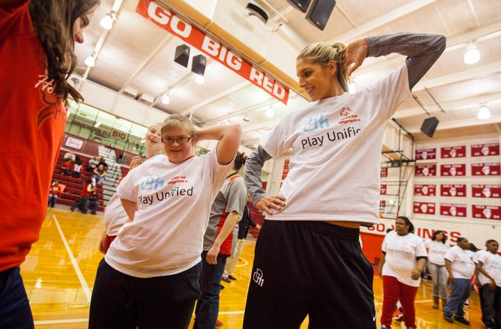 Elena Delle Donne announces her role as Special Olympics Global Ambassador in 2014.