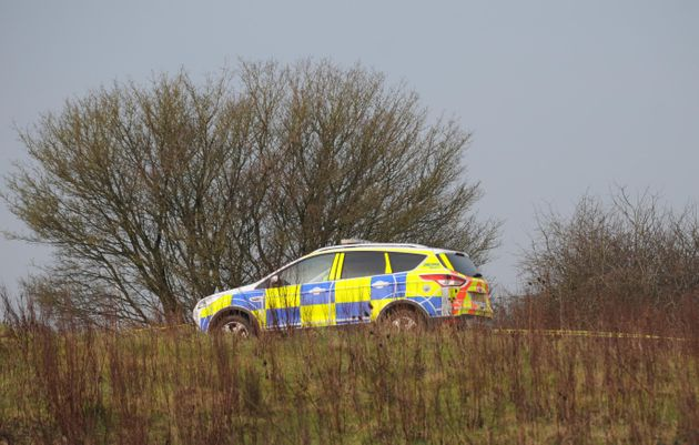 Police at the scene this morning 11th March