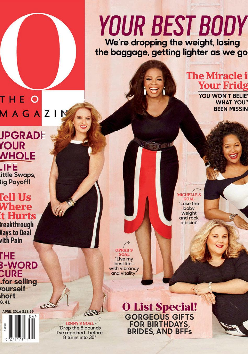 """""""It's harder than it looks, isn't it?"""" said Oprah as she posed with the women featured in """"Lighter as We Go"""" at this month's"""