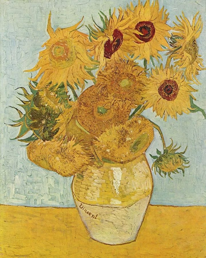 <i>Vincent van Gogh, Sunflowers (1889). This is the third version of the composition. </i><br><i>Photo: courtesy the Neue Pin