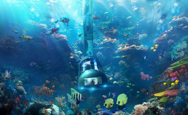 An illustration of the Planet Ocean Underwater Hotel
