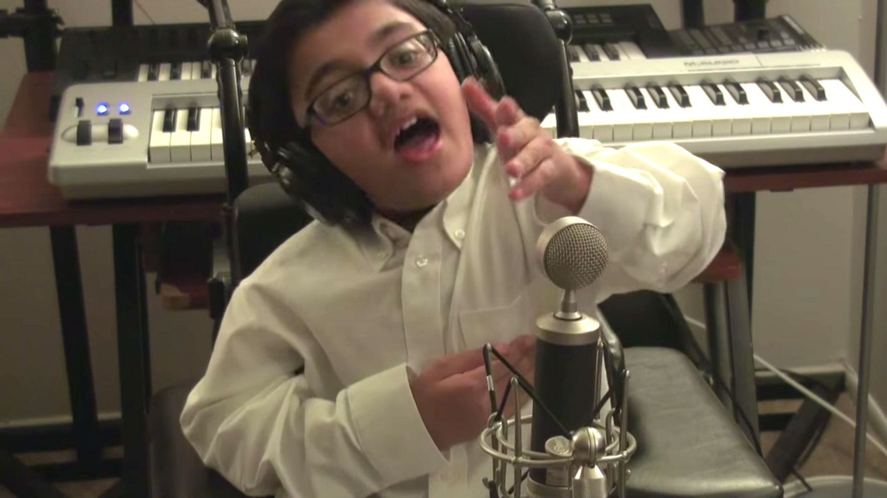 Fearless Boy Who Has Incurable Disease Sings Eminem's 'Not