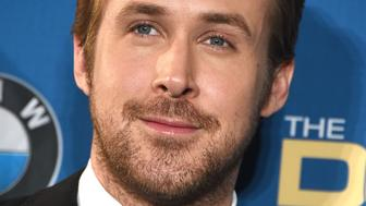 LOS ANGELES, CA - FEBRUARY 06:  Ryan Gosling poses at the 68th Annual Directors Guild Of America Awards at the Hyatt Regency Century Plaza on February 6, 2016 in Los Angeles, California.  (Photo by Steve Granitz/WireImage)