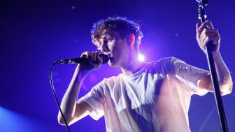 BURBANK, CA - FEBRUARY 09:  Troye Sivan performs on stage at iHeartRadio Theater on February 9, 2016 in Burbank, California.  (Photo by Rich Polk/Getty Images for iHeartMedia)