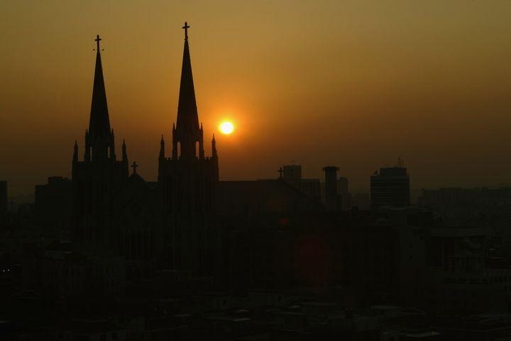Sunrise in Seoul, South Korea.