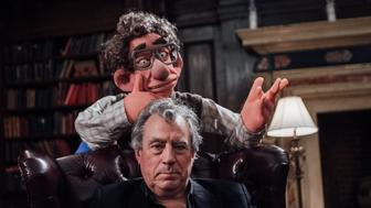 Terry Jones with the puppet of economist Hyman Minsky.