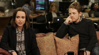 """""""Gaycation"""" hosts Ellen Page and Ian Daniel discuss confronting prejudice while shooting the VICELAND show."""