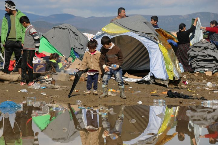 Idomeni camp pictured on Friday. Patrick Kingsley, the first-ever migration correspondent for The Guardian, said the dea
