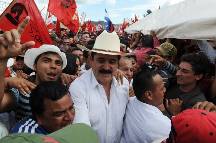 Former President Manuel Zelaya returned to the Honduran capital of Tegucigalpa in May 2011 under an amnesty deal.