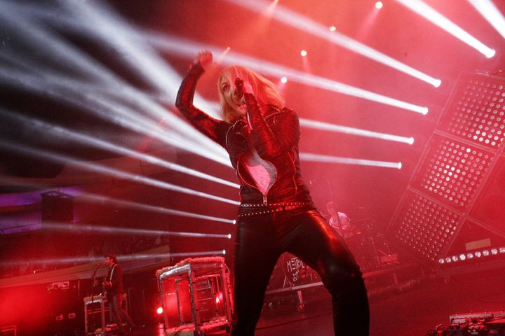 "Musician Emily Haines of Metric performs during the band's 2016 ""Pagans In Vegas"" tour."
