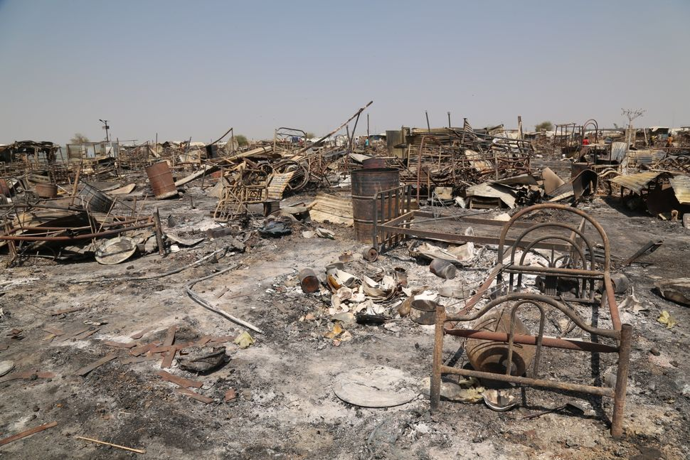 Photos show the devastation left by the violence in Malakal.