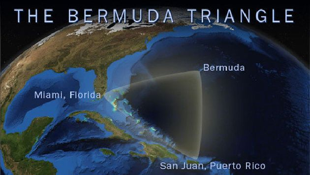 The Bermuda Triangle is said to stretch between Miami, Bermuda and Puerto