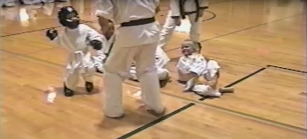 Cute Karate Kid 'Saves' Girl From Big Bad Instructor And Becomes A Tiny