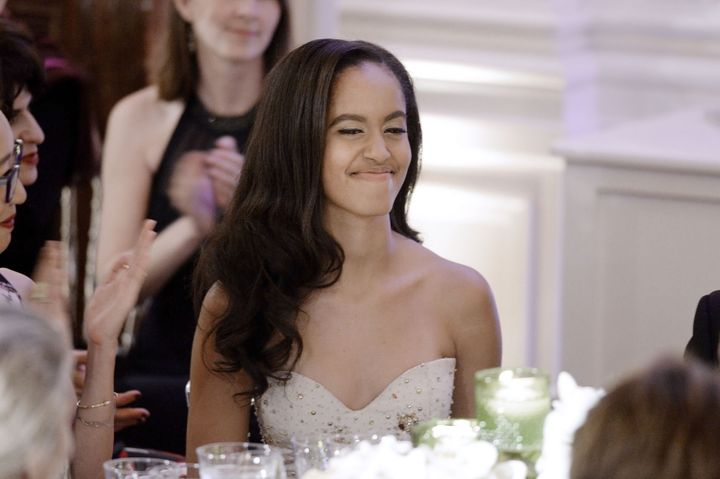 Malia Obama attends a State Dinner at the White House March 10, 2016 in Washington, D.C.
