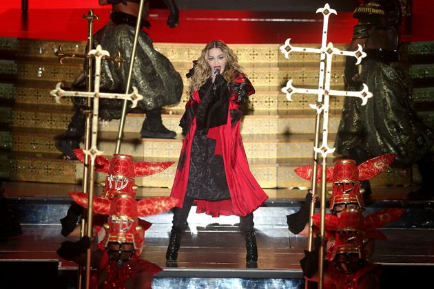 Madonna on stage in