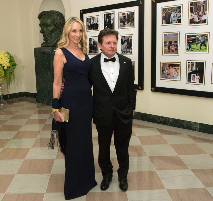 Actor Michael J. Fox and Tracy Pollan.