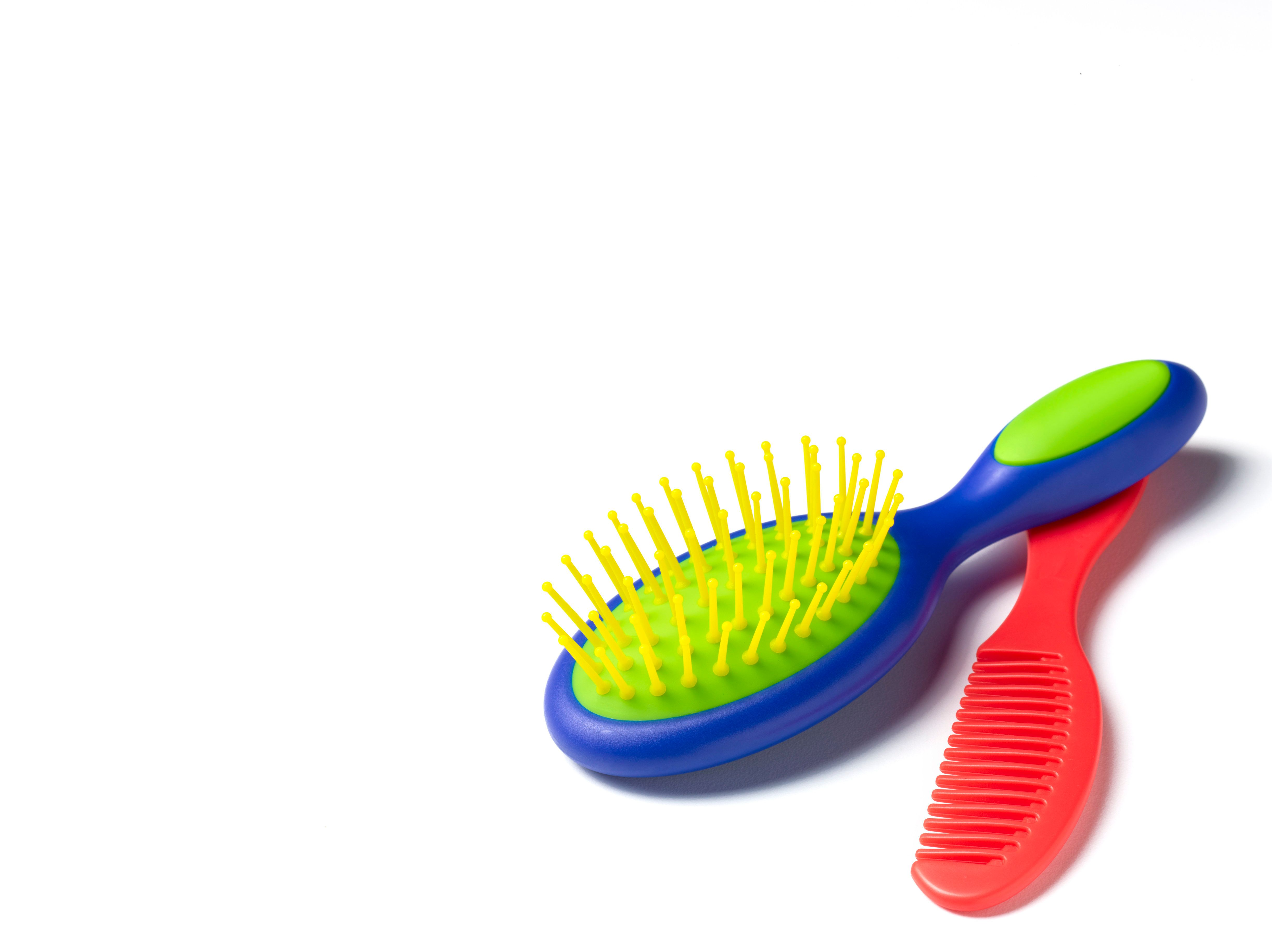 Child's hair brush and comb.