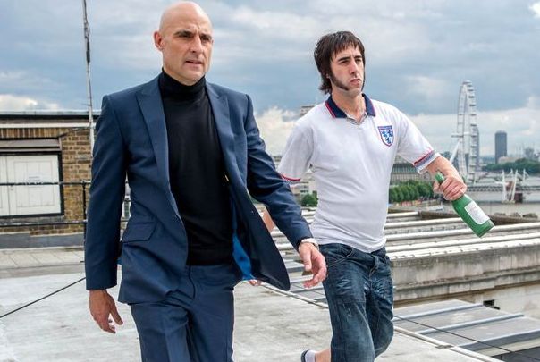 Mark Strong co-stars with Sacha Baron Cohen in