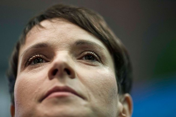 Frauke Petry, head of the Alternative fuer Deutschland (Alternative for Germany) political party. The AfD won huge victories