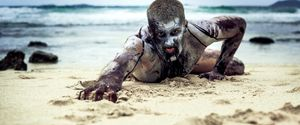ANGRY APOCALYPSE BEACH BLOOD BLOODIED BLOODSTAINED