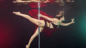 Australian photographer Brett Stanley enjoys photographing pole dancers and acrobats underwater.