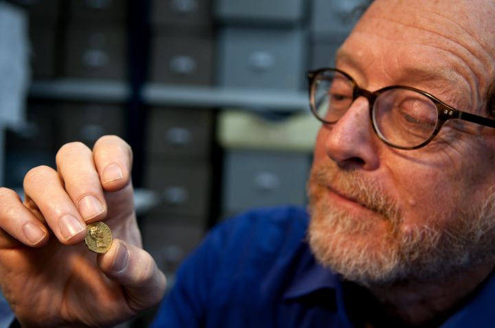 Dr. Donald Ariel of theIsrael Antiquities Authority believes the discovery of this coin could mean the Roman army was a