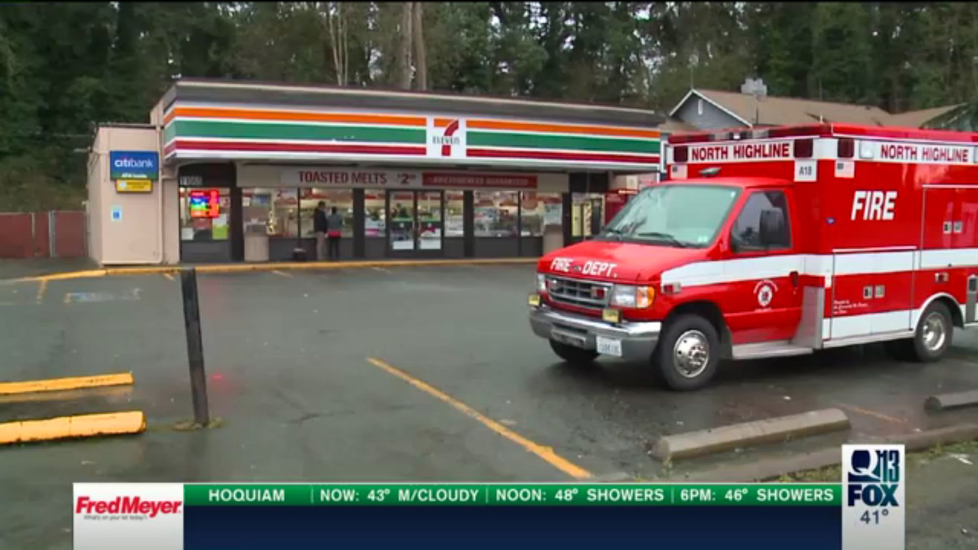A masked man, armed with a hatchet, was fatally shot Sunday morning after entering a Washington state 7-11 and slashing a clerk.