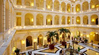 Hungary, Budapest, New York Palace, 5 star luxury hotel, atrium and lobby