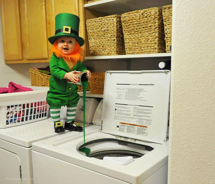 This little leprechaun has some mischievous plans this St. Patrick's Day.