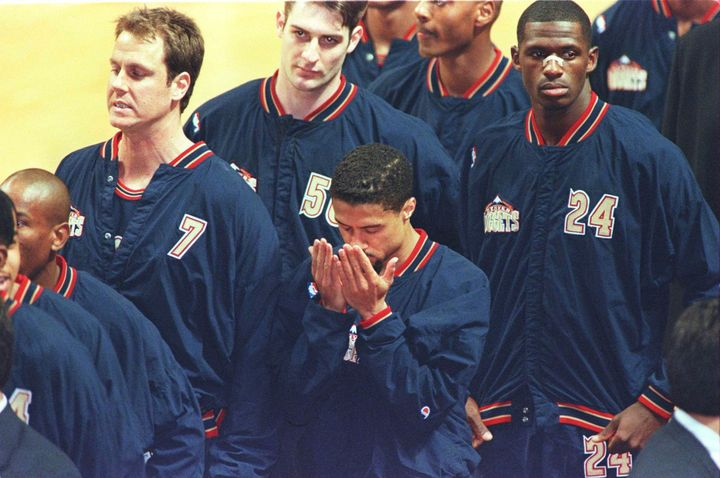After serving a one-game suspension for refusing to stand during the national anthem in 1996, Mahmoud Abdul-Rauf prayed quiet