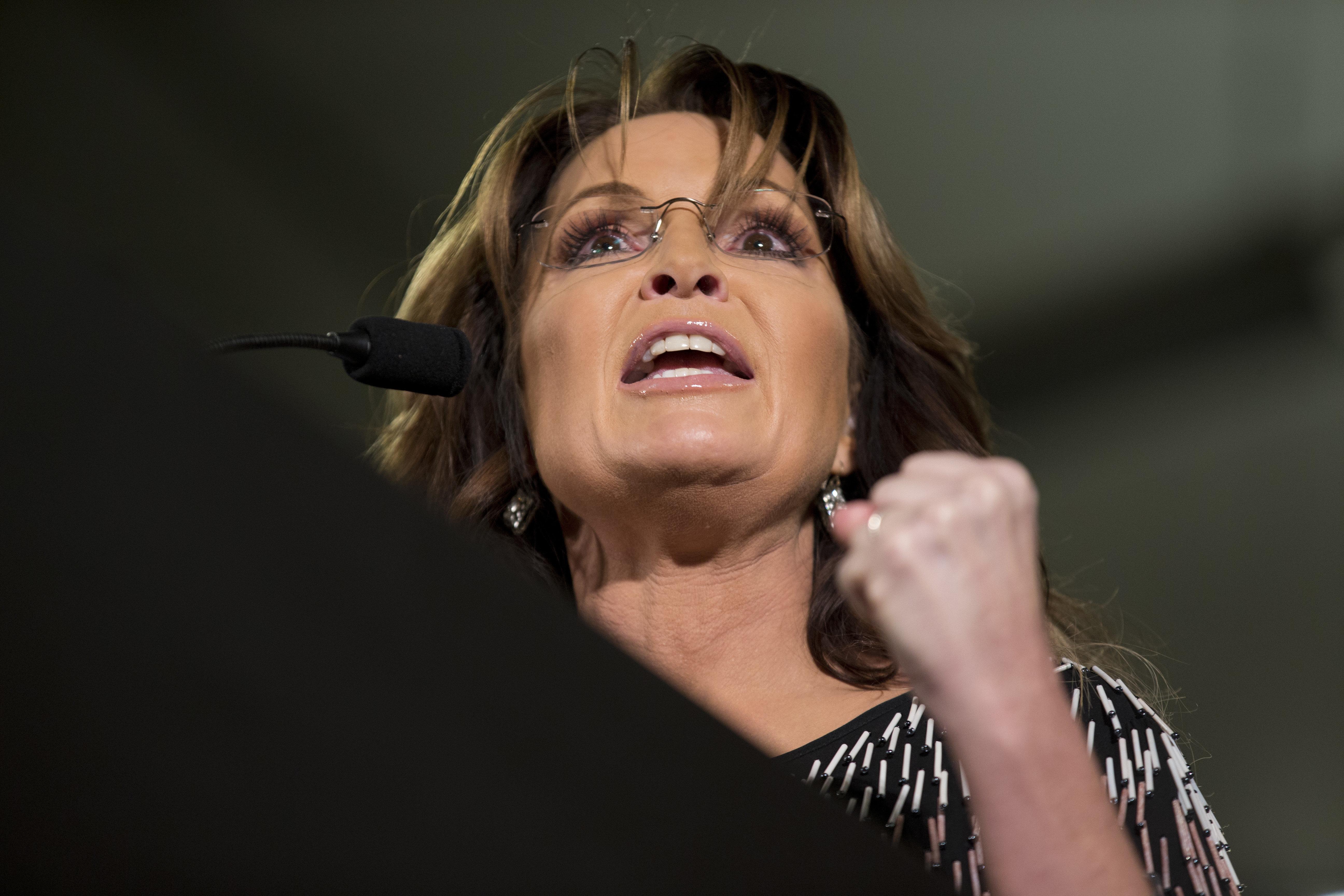 In January, former Alaska Gov. Sarah Palin endorsed presidential candidate Donald Trump.