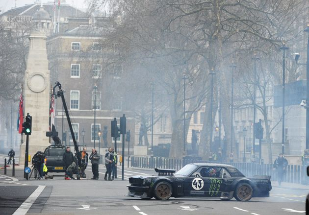 Filming for the 'Top Gear' stunt took place next to the Cenotaph in central