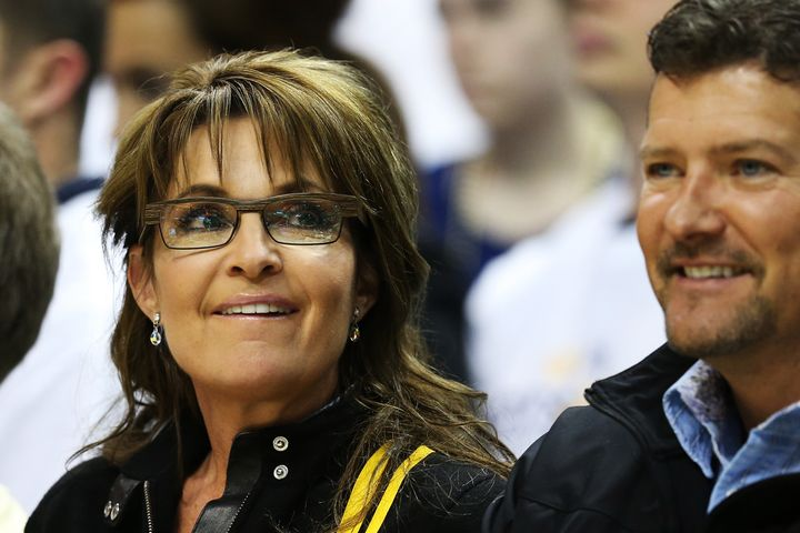 Sarah Palin and her husband Todd, right, pictured together in 2013.