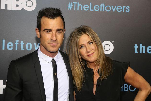 Jennifer Aniston with husband Justin