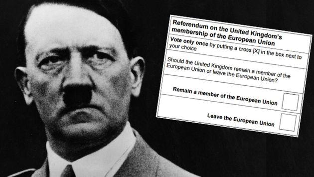 EU Referendum Question 'Like Hitler Election Ballot' Says European People's Party UK