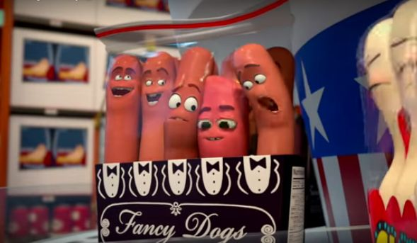 Seth Rogen stars as a hot dog named Frank.