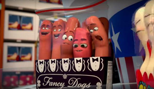 Seth Rogen stars as a hot dog named Frank.