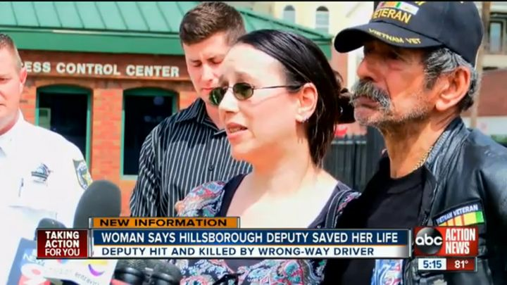 Sarah Geren, 42, said Kotfila sacrificed his life to save her and her boyfriend.