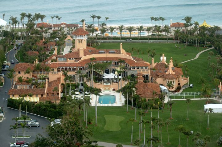 An aerial view of Mar-a-Lago, the sprawling estate of Donald Trump, in Palm Beach, Florida.<i></i>
