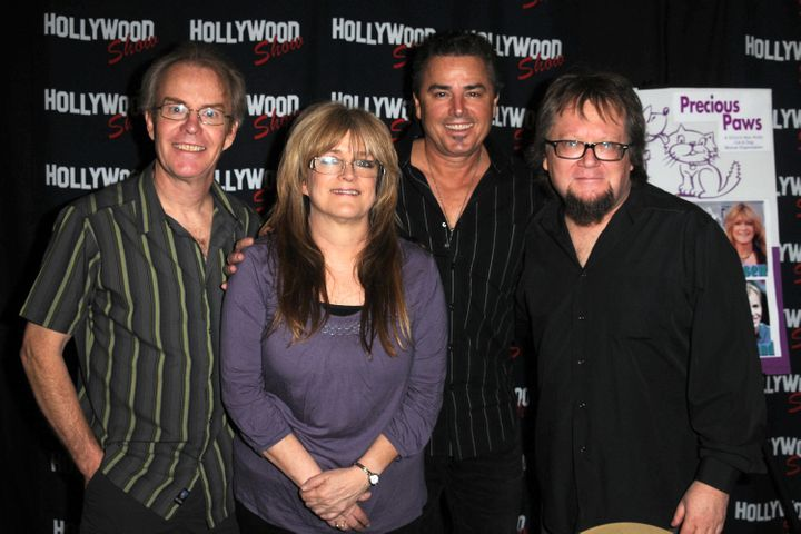 Mike Lookinland, Susan Olsen, Christopher Knight and Robbie Rist appear at an event in Burbank, Calif. in April 2012.