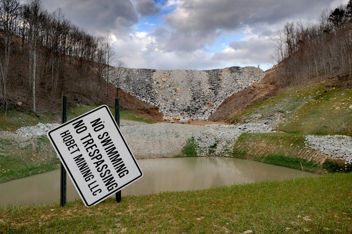 Photo taken in Mud, West Va., a town that is virtually gone now due to the coal operation having altered the landscape. The a