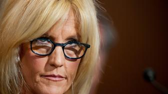 Erin Brockovich, president of Brockovich Research & Consulting, testifies during an Environment and Public Works Committee hearing on 'Disease Clusters and Environmental Health,' Tuesday, March 29, 2011 on Capitol Hill in Washington, D.C. (Pete Marovich/MCT via Getty Images)