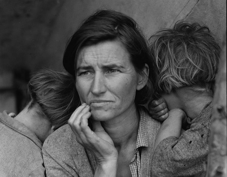 Taken by Dorothea Lange in 1936 during the Great Depression.