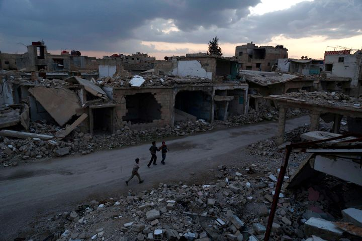 The Syrian air force dropped at least 17,318 barrel bombs across the country in 2015.