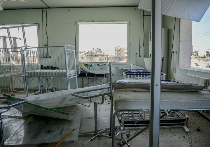 Attacks on hospitals and medical staff significantly increased in 2015. This photo shows an inside view of a damaged hos