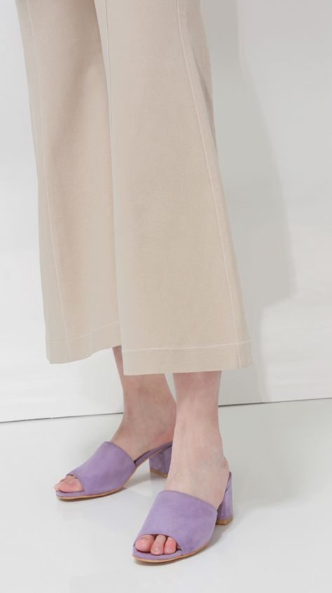 """<a href=""""http://theloeil.com/collections/shoes/products/creta-suede-mule"""" target=""""_blank"""">Creta Suede Mule, $78</a>"""