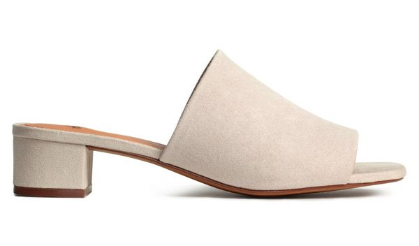 """<a href=""""http://www.hm.com/us/product/42798?article=42798-A"""" target=""""_blank"""">H&M Mules with Block Heel, $29</a>"""